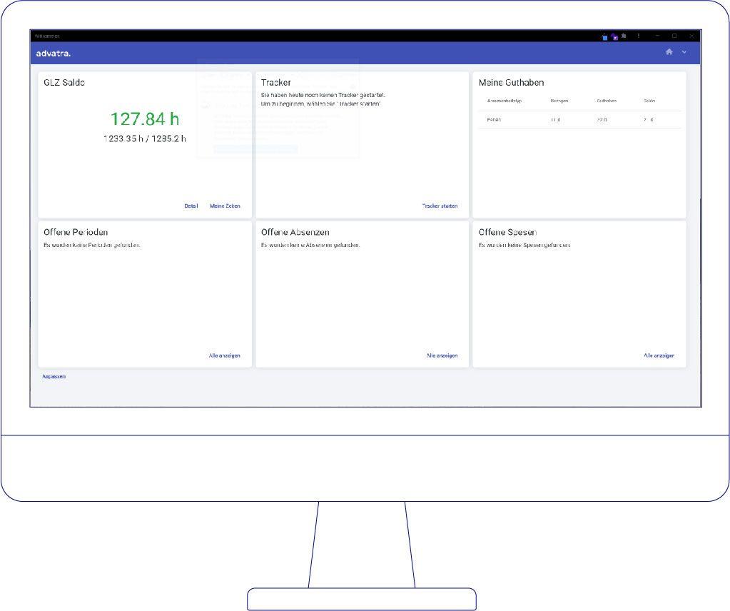 Desktop Ansicht ERP System für Bucher Travel